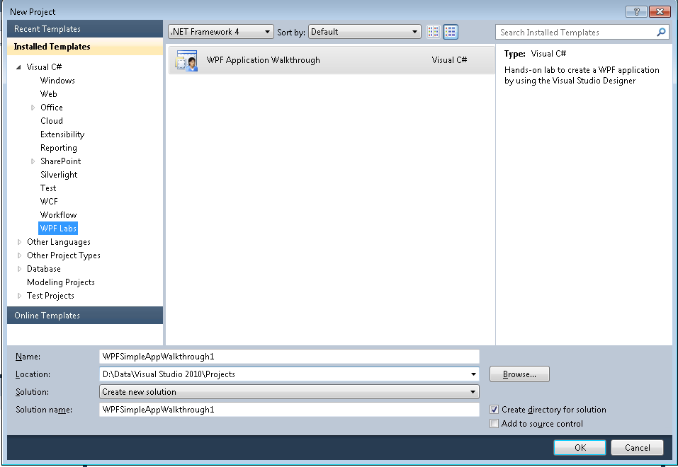 WPF Simple Application Walkthrough - Visual Studio Marketplace